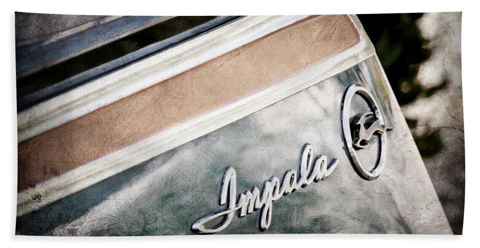 Chevrolet Impala Emblem Hand Towel featuring the photograph Chevrolet Impala Emblem by Jill Reger