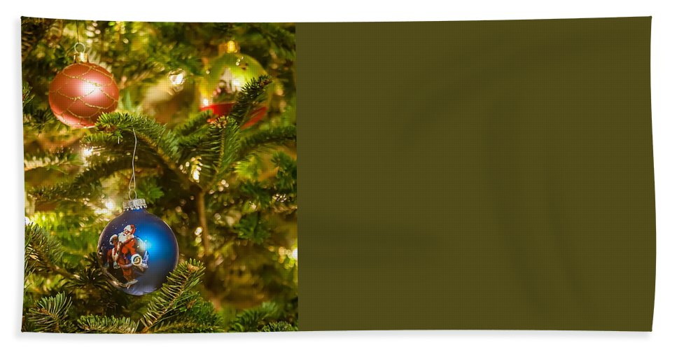 Artificial Bath Sheet featuring the photograph Christmas Tree Ornaments by Alex Grichenko
