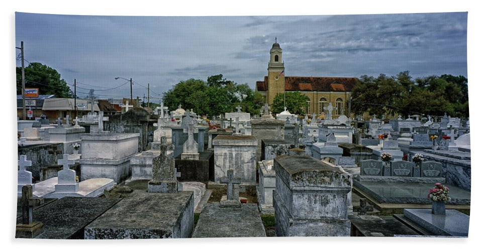 New Orleans Hand Towel featuring the photograph City Of The Dead - New Orleans by Mountain Dreams