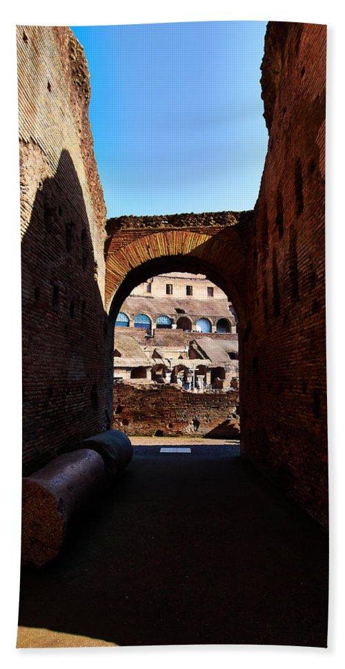 2013. Bath Sheet featuring the photograph Colosseum by Jouko Lehto