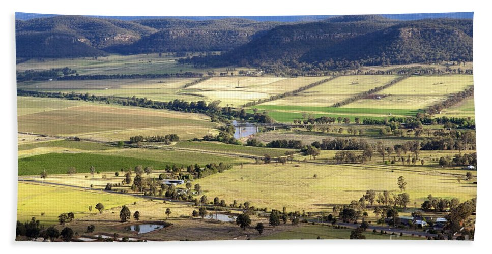 Above Hand Towel featuring the photograph Country Scenic by Tim Hester