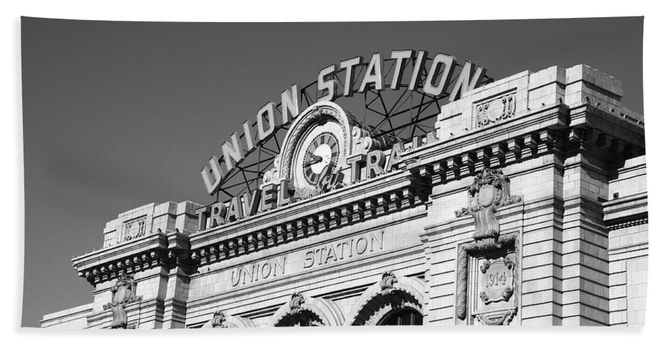 America Hand Towel featuring the photograph Denver - Union Station by Frank Romeo