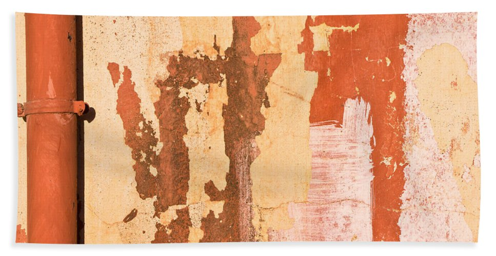 Abstract Bath Sheet featuring the photograph Drainpipe by Tom Gowanlock