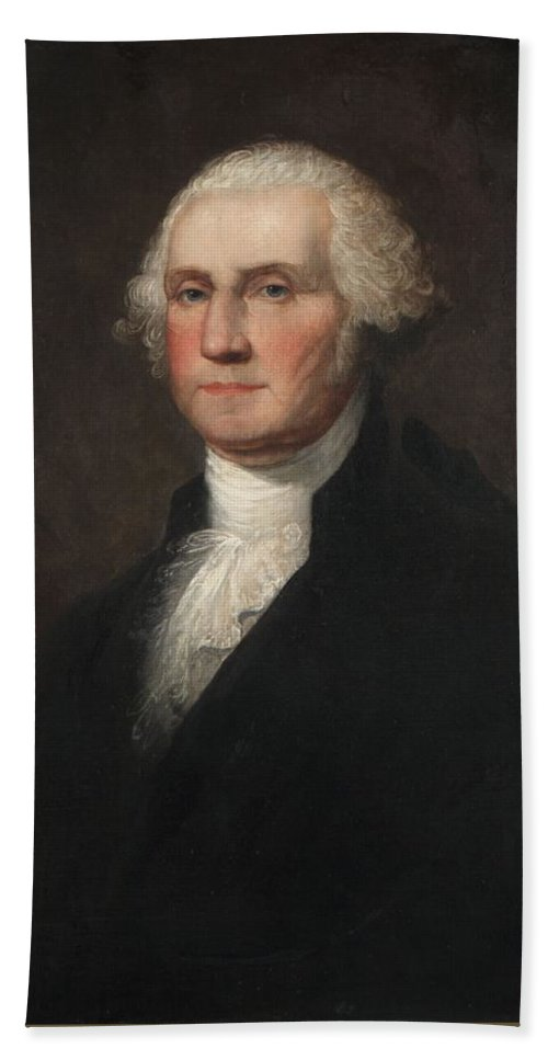 Rembrandt Peale Hand Towel featuring the painting George Washington by Rembrandt Peale