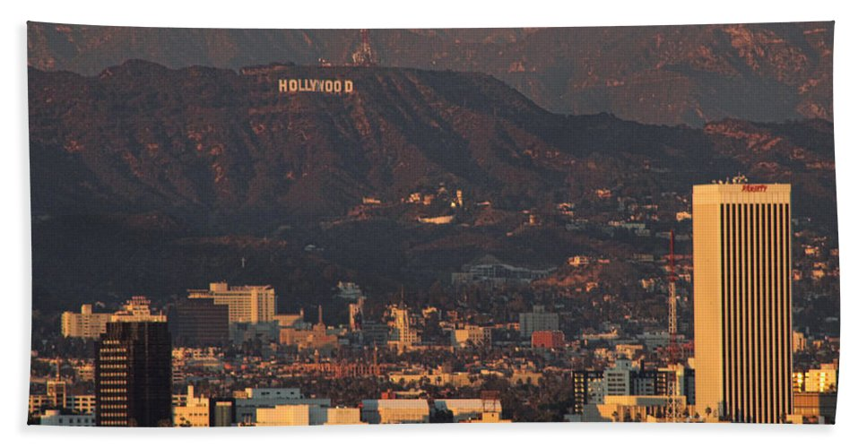 Griffith Park Observatory Los Angeles California Scenic View Stars Icon Architecture Black And White Rj Aguilar Artist Hollywood Hills Sign Iconic Classic Nastalgic Original Hollywood Sign Hillview Scenic Iconic View Culver City Griffith Park Observatory Los Angeles California Scenic View Stars Icon Architecture Black And White Rj Aguilar Artist Hollywood Hills Sign Iconic Classic Nastalgic Original Hollywood Sign Hillview Scenic Iconic View Culver City Hand Towel featuring the photograph Hollywood Sign by RJ Aguilar