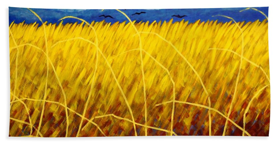 Acrylic Hand Towel featuring the painting Homage To Van Gogh by John Nolan