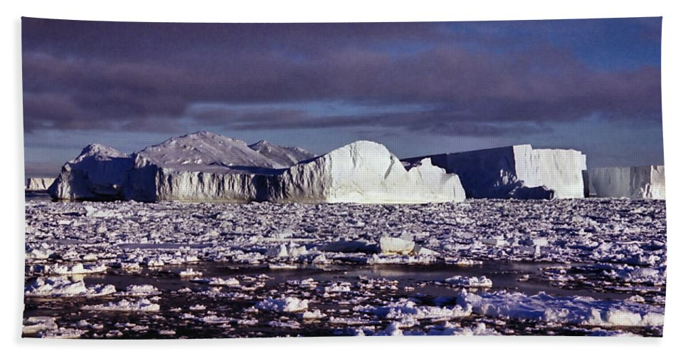 Sunshine Hand Towel featuring the photograph Iceberg In The Ross Sea Antarctica by Carole-Anne Fooks