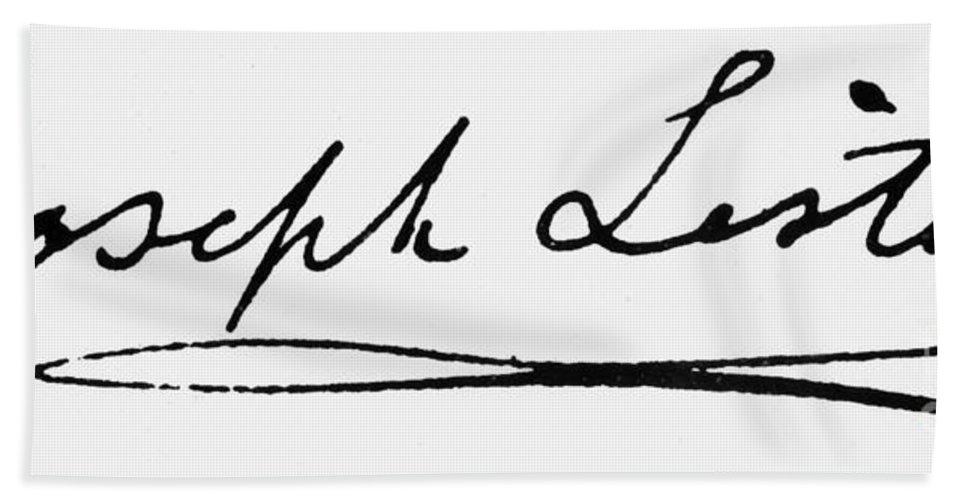 19th Century Bath Sheet featuring the photograph Joseph Lister (1827-1912) by Granger