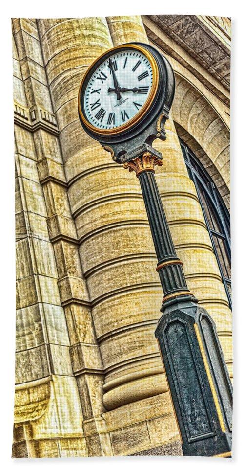 4 O'clock Bath Sheet featuring the photograph 4 O'clock Train by Sennie Pierson