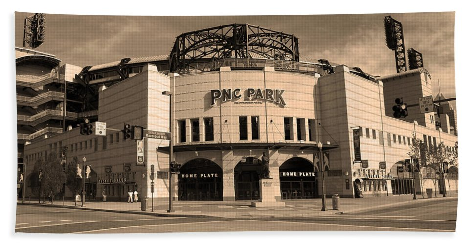 America Hand Towel featuring the photograph Pnc Park - Pittsburgh Pirates by Frank Romeo