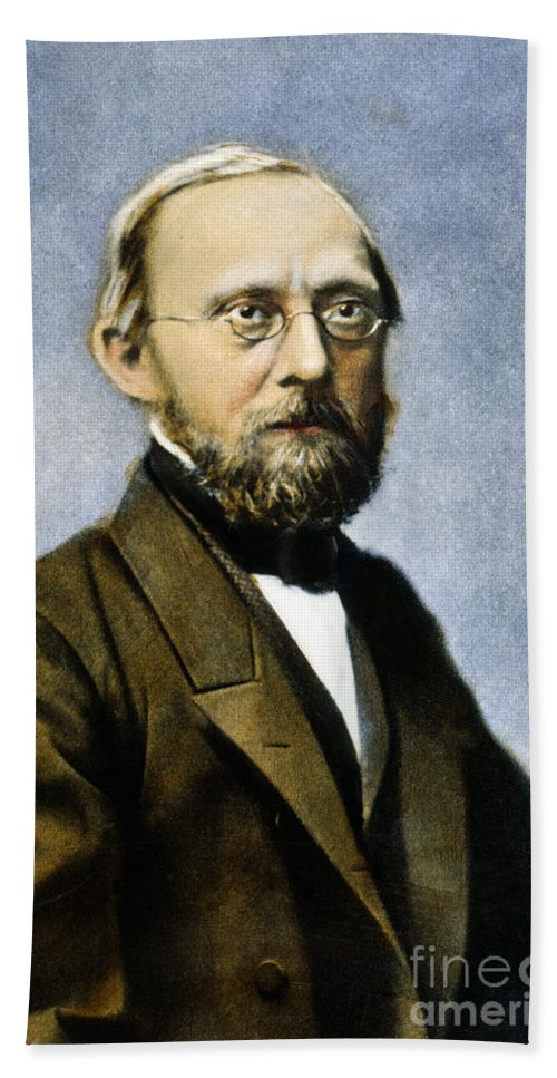 19th Century Bath Sheet featuring the photograph Rudolf Virchow (1821-1902) by Granger