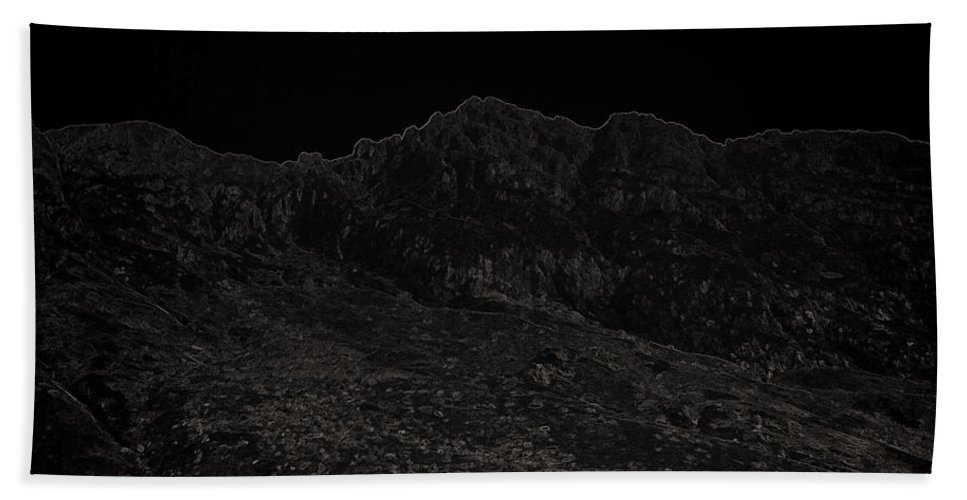 Blue Sky Bath Sheet featuring the photograph Slope Of Hills In The Scottish Highlands by Ashish Agarwal