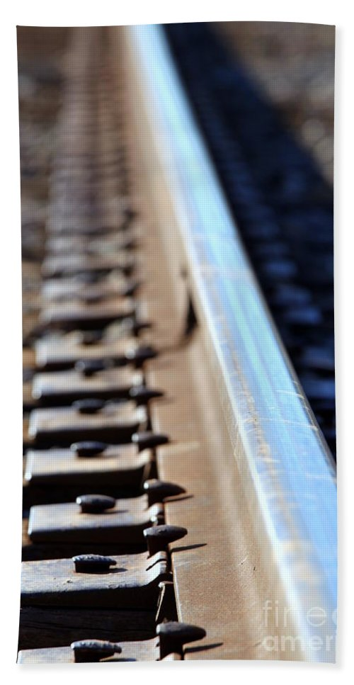 Railway Bath Sheet featuring the photograph Train Track by Henrik Lehnerer