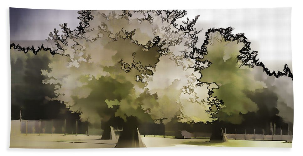 Adventure Park In Scotland Bath Sheet featuring the photograph Tree With Large White Flowers by Ashish Agarwal
