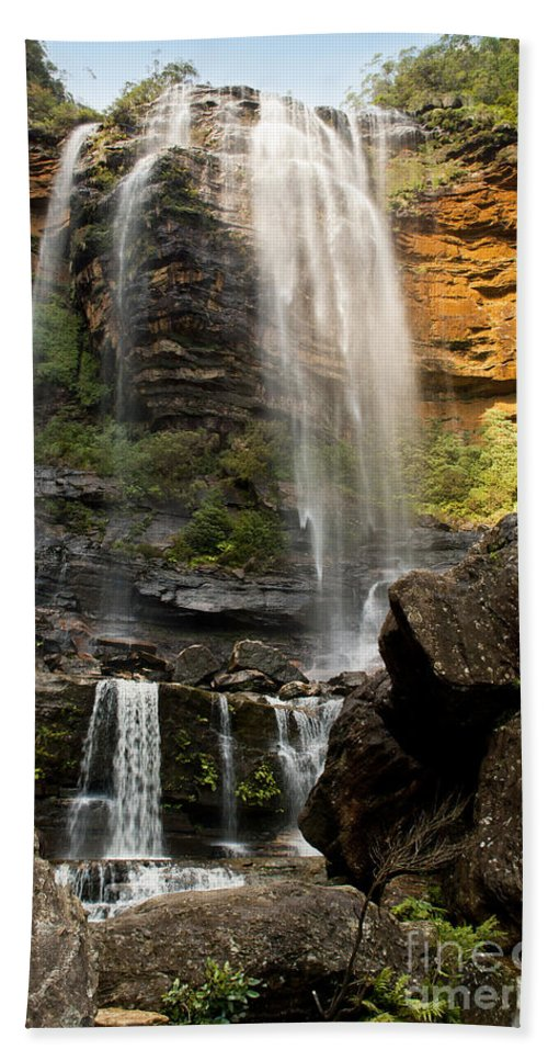 Australia Bath Sheet featuring the photograph Wentworth Falls Blue Mountains by Tim Hester
