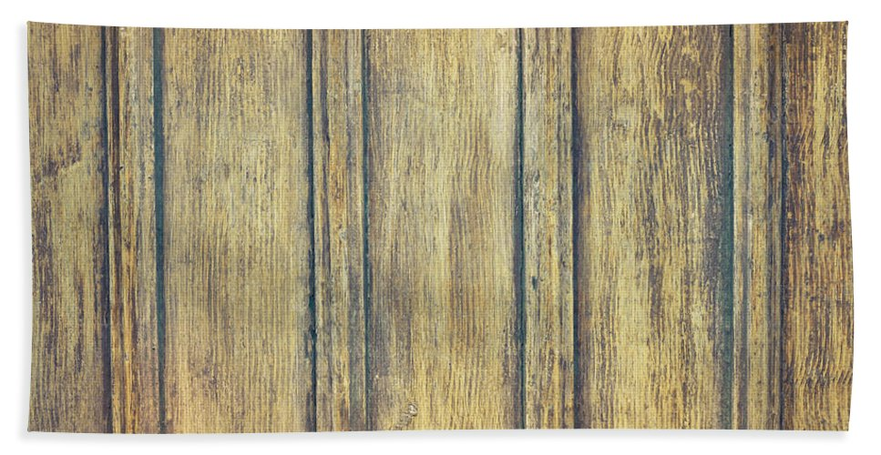 Antique Hand Towel featuring the photograph Wooden Background by Tom Gowanlock