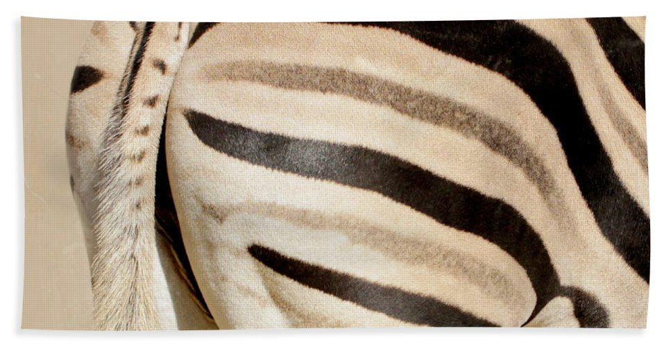 Zebra Bath Sheet featuring the photograph Zebra by Heike Hultsch