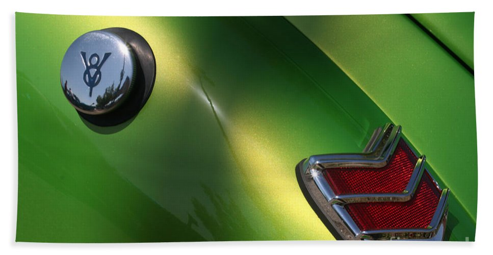 1940 Hand Towel featuring the photograph 40 Ford - Tank N Tail Light-8527 by Gary Gingrich Galleries