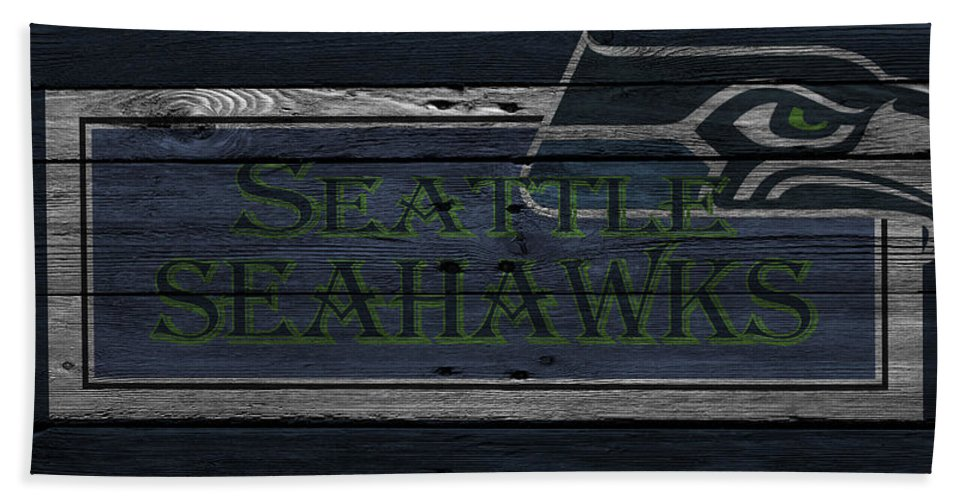 Seahawks Hand Towel featuring the photograph Seattle Seahawks by Joe Hamilton