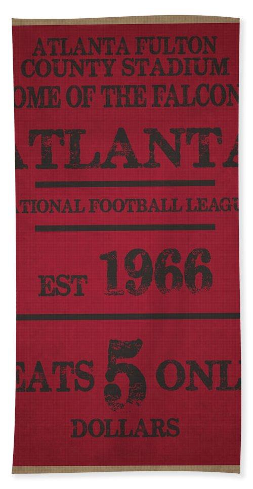 Falcons Bath Sheet featuring the photograph Atlanta Falcons by Joe Hamilton