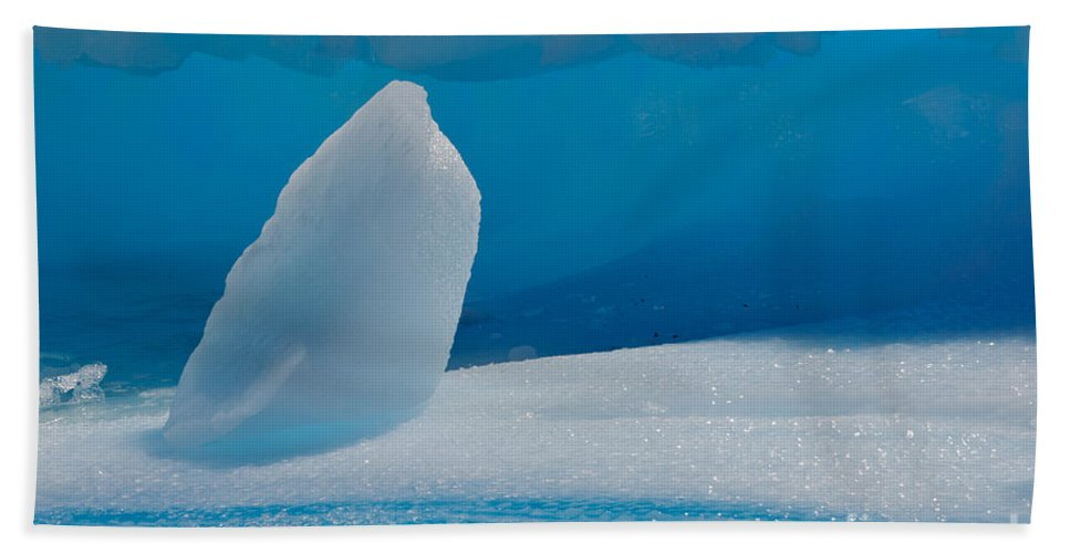 Nature Hand Towel featuring the photograph Iceberg, Antarctica by John Shaw