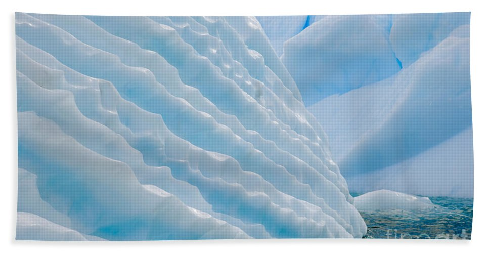 Nature Bath Sheet featuring the photograph Iceberg, Antarctica by John Shaw