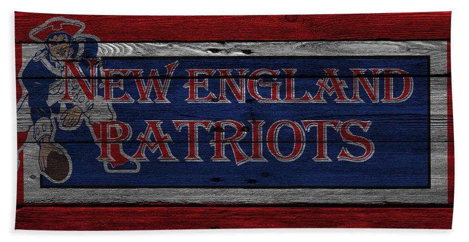 Patriots Hand Towel featuring the photograph New England Patriots by Joe Hamilton