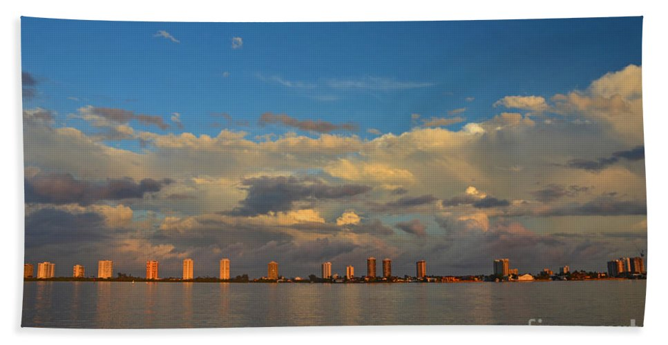 Hand Towel featuring the photograph 46- Storm Front by Joseph Keane