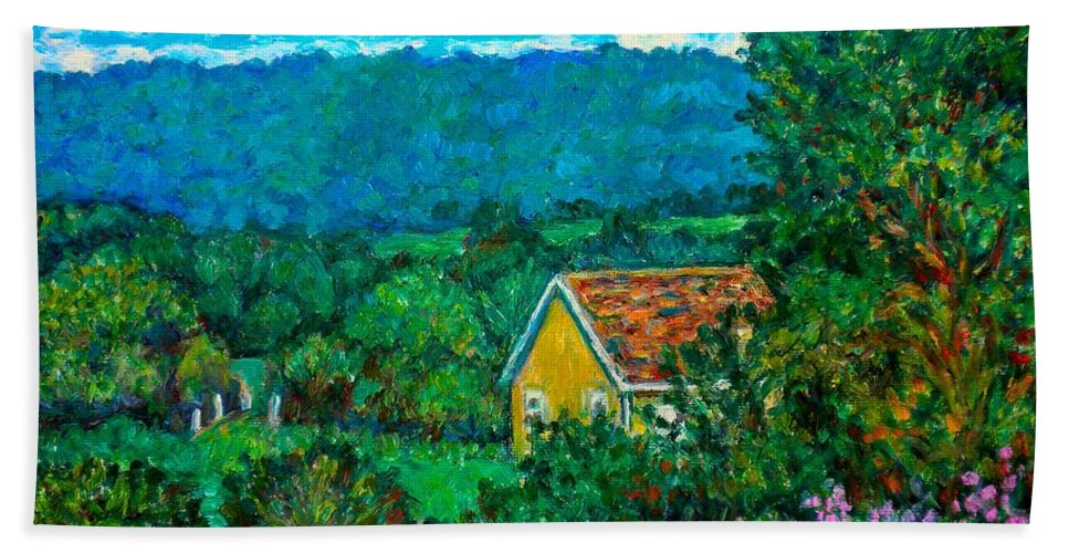 Landscape Hand Towel featuring the painting 460 by Kendall Kessler