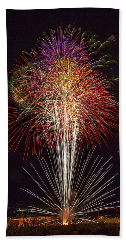4th Of July Hand Towel featuring the photograph 4th July #7 by Diana Powell