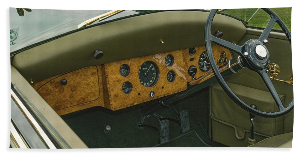 Antique Bath Sheet featuring the photograph 1937 47 Rolls Royce by Jack R Perry