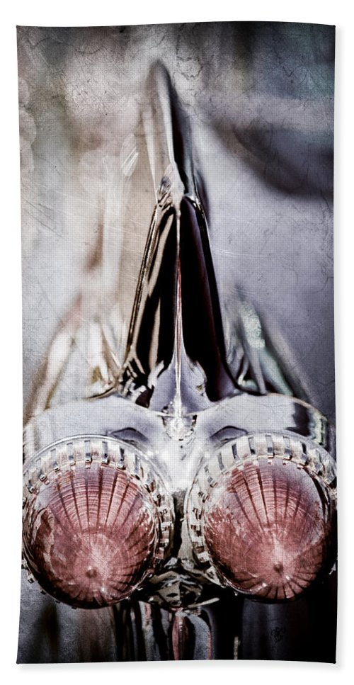 1959 Cadillac Eldorado Taillight Hand Towel featuring the photograph 1959 Cadillac Eldorado Taillight by Jill Reger