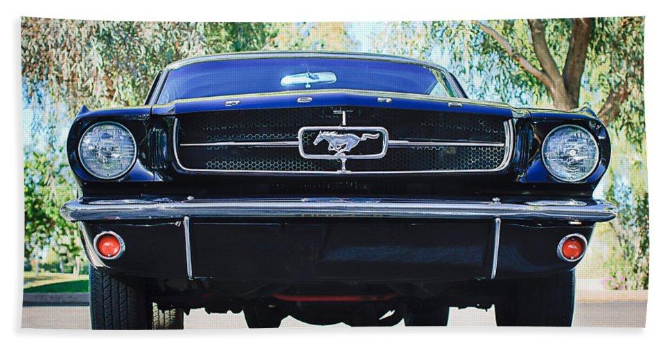 1965 Shelby Prototype Ford Mustang Bath Sheet featuring the photograph 1965 Shelby Prototype Ford Mustang by Jill Reger
