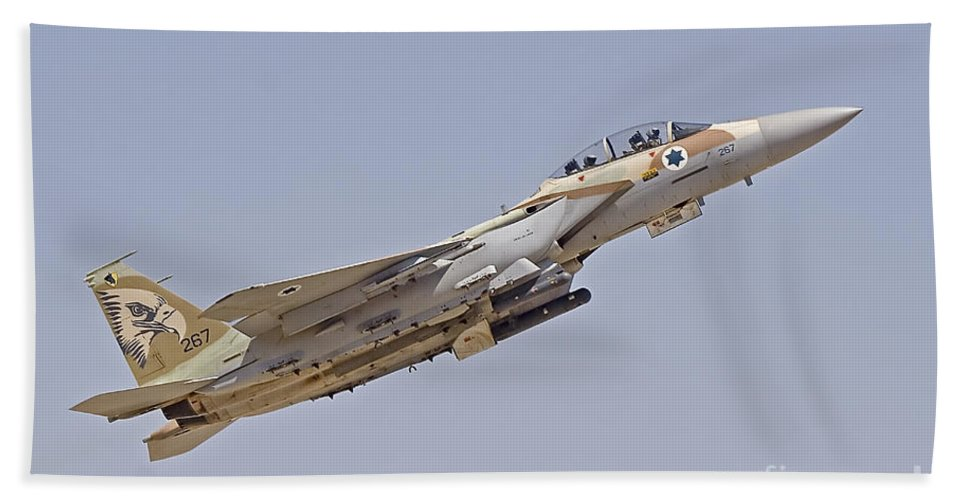 Transportation Bath Sheet featuring the photograph An F-15i Raam Of The Israeli Air Force by Ofer Zidon