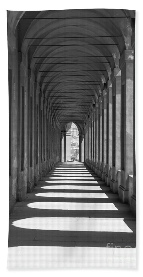 Arcade Hand Towel featuring the photograph Archway by Mats Silvan