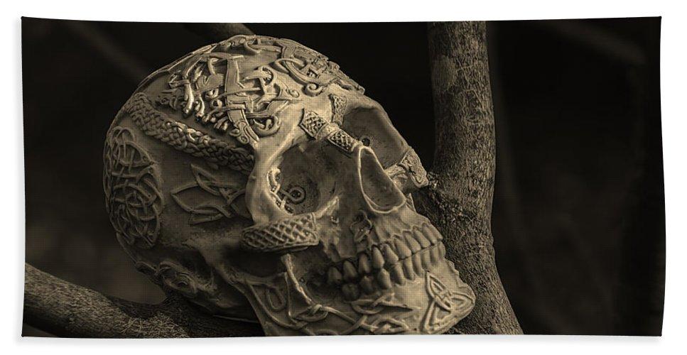 Usa Bath Towel featuring the photograph Celtic Skulls Symbolic Pathway To The Other World by LeeAnn McLaneGoetz McLaneGoetzStudioLLCcom