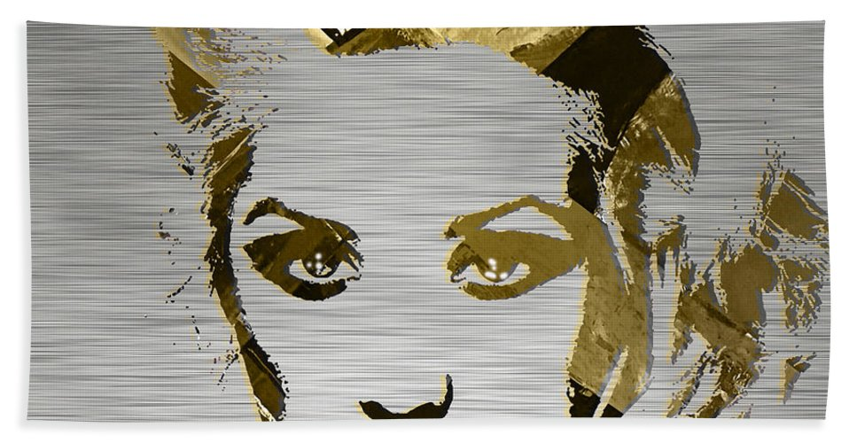 Christina Aguilera Hand Towel featuring the mixed media Christina Aguilera Collection by Marvin Blaine