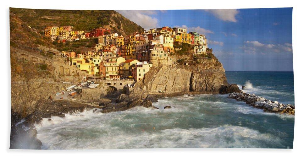 Manarola Bath Sheet featuring the photograph Cinque Terre by Brian Jannsen