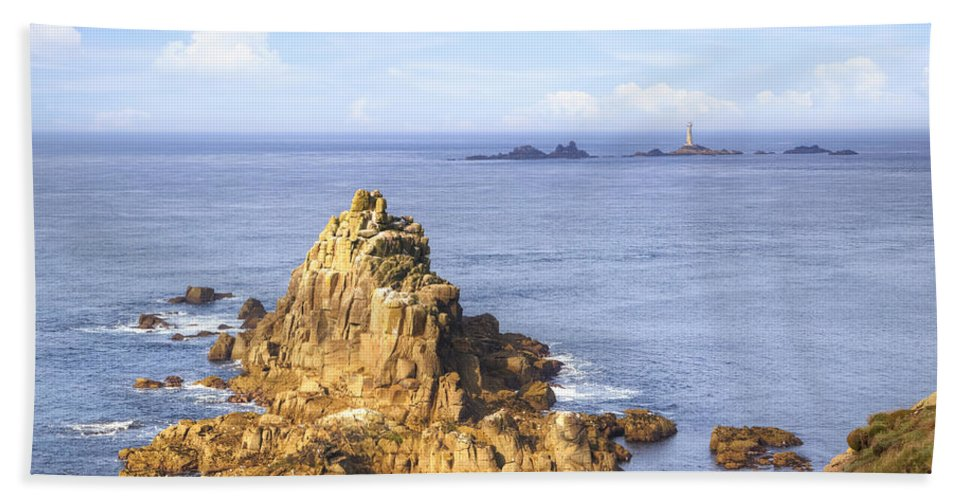 Land's End Bath Sheet featuring the photograph Cornwall - Land's End by Joana Kruse