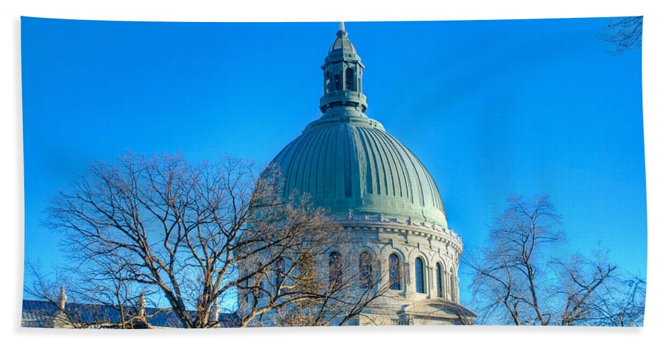 Academy Bath Sheet featuring the photograph Naval Academy Chapel by Mark Dodd