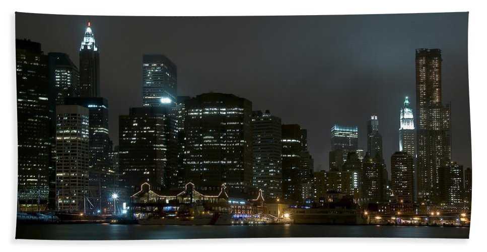 America Hand Towel featuring the photograph NYC by Svetlana Sewell
