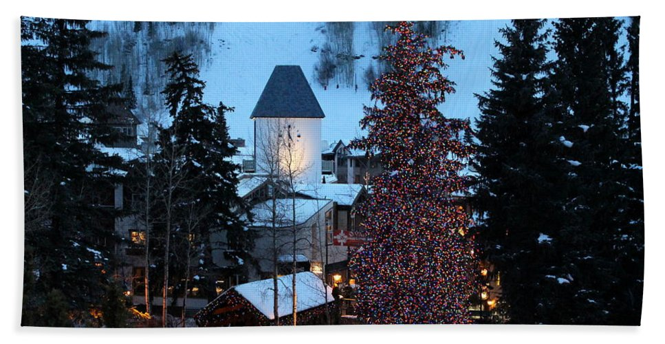 Vail Colorado Hand Towel featuring the photograph 5 O'clock Somewhere by Fiona Kennard