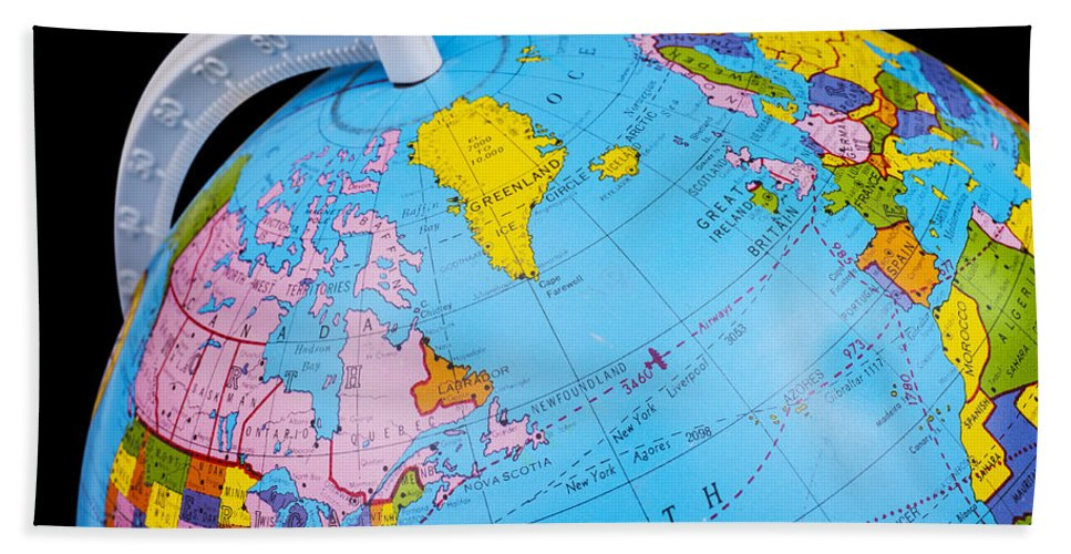 Old rotating world map globe bath towel for sale by donald erickson globe bath towel featuring the photograph old rotating world map globe by donald erickson gumiabroncs Images