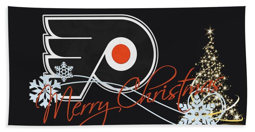 Flyers Bath Sheet featuring the photograph Philadelphia Flyers by Joe Hamilton