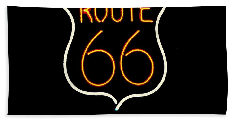 Bath Sheet featuring the photograph Route 66 Edited by Kelly Awad