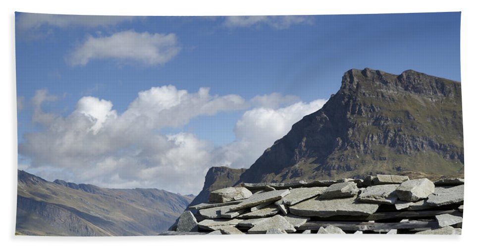 Mountain Hand Towel featuring the photograph Swiss Alps by Mats Silvan