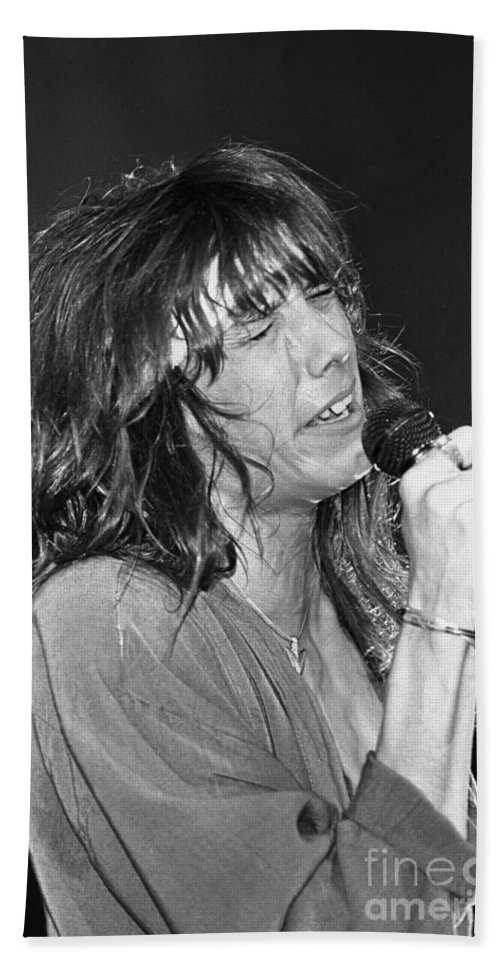 Lead Singer Hand Towel featuring the photograph Tesla - Jeff Keith by Concert Photos