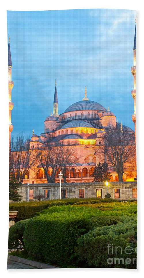Arabic Bath Sheet featuring the photograph The Blue Mosque - Istanbul by Luciano Mortula