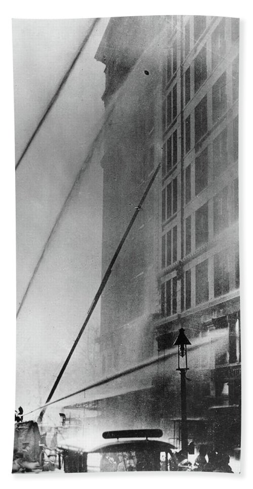 1911 Hand Towel featuring the photograph Triangle Factory Fire by Granger