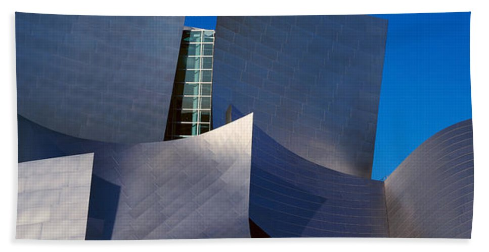 Photography Hand Towel featuring the photograph Walt Disney Concert Hall, Los Angeles by Panoramic Images